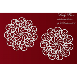 Chipboard- Doily Lace - 2 Big Rosettes