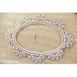 Chipboard - Doily Lace - Big Oval Frame