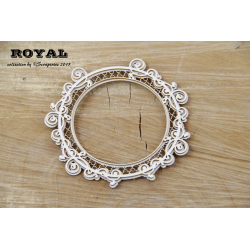 Chipboard - Royal Round Frame -2 layers BIG