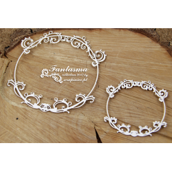 Chipboard -Fantasma Round Frames-big & small