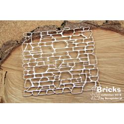 Chipboard-Background /Bricks - Big Wall