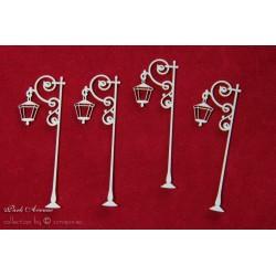 Chipboard - Park Avenue lantern/long 4pcs