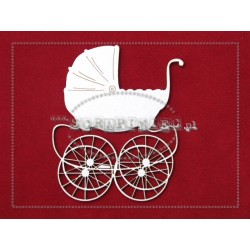 Chipboard - Retro Big Pram /1 pcs