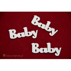 "Chipboard - ""Baby""/text"