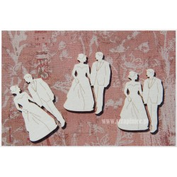 "Chipboard-Mini bridegroom ""A""/3pairs"