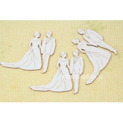 "Chipboard-Mini bridegroom ""B""/3pairs"