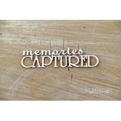 Chipboard - Memories CAPTURED  text