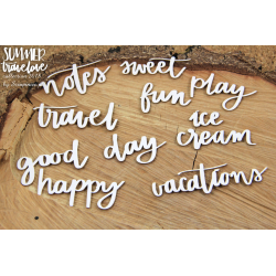 Chipboard - Summer travelove - inscriptions
