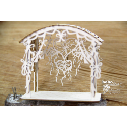 Chipboard - BOHO Wedding Gazebo with Dreamcatcher(3D)