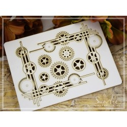 Chipboard - Steampunk  Corner set