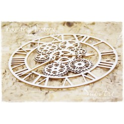 Chipboard - Big Layered Clock STEAMPUNK
