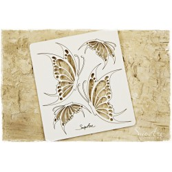 Chipboard -Butterflies set /4 pcs