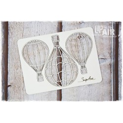 Chipboard -3 Balloons