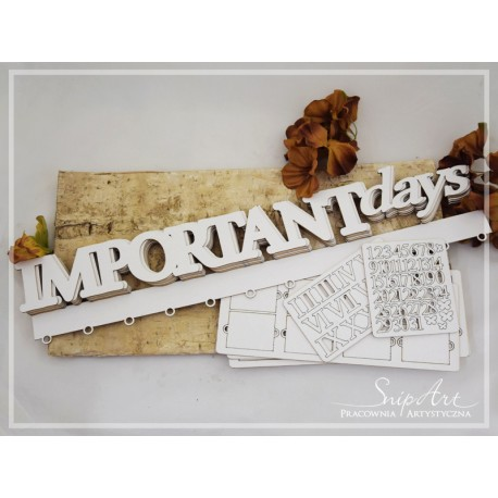 """Chipboard- Base - """"IMPORTANT DAYS"""""""