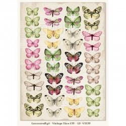 Scrapbooking Paper- Die Cut A4 Sheet   Butterflies 03