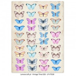 Scrapbooking Paper- Die Cut A4 Sheet   Butterflies 04