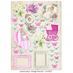Scrapbooking Paper- Die Cut A4 Sheet  Lullaby Girl