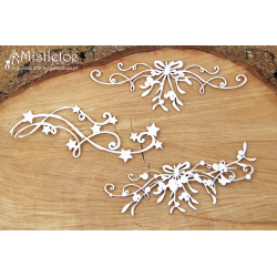 Chipboard - Mistletoe - ornaments