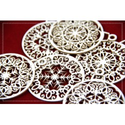 Chipboard - Christmas ornaments -6pcs