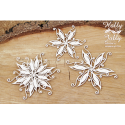 Chipboard - Holly Jolly - poinsettia