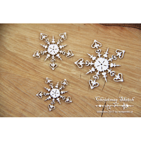 Chipboard 3 Snowflakes