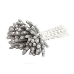 Brocade Wire Sticks - 5x20mm /SILVER