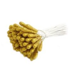 Brocade Wire Sticks - 5x20mm /GOLD