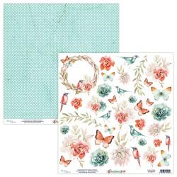 Scrapbooking Paper- Die Cut Sheet -Birdsong 09
