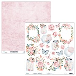 Scrapbooking Paper- Die Cut Sheet -7th Heaven 09