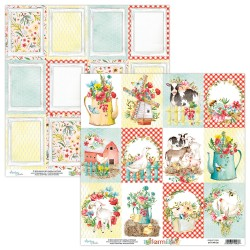 Scrapbooking Paper- Die Cut Sheet -FARMLIFE 06