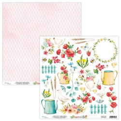 Scrapbooking Paper- Die Cut Sheet - FARMLIFE 09
