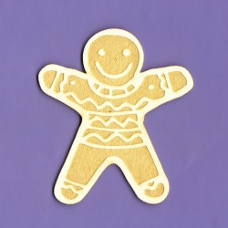 Chipboard - Gingerbread Man