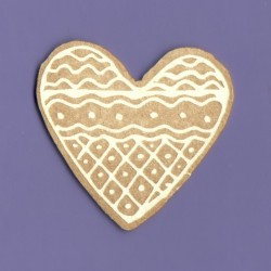 Chipboard - Gingerbread Heart