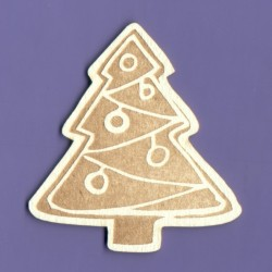 Chipboard - Gingerbread Christmas Tree