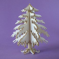 Chipboard - Christmas Tree 3D
