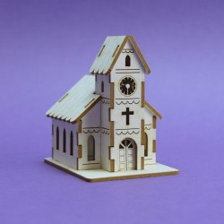 Chipboard - Christmas -Winter Church - 3D