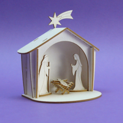 Chipboard - Christmas Nativity Scene - 3D