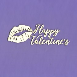 Chipboard - Happy Valentine's - lips