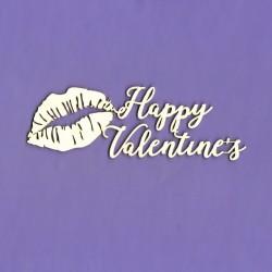 Chipboard - Happy Valentine's - lips