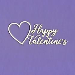 Chipboard - Happy Valentine's - heart
