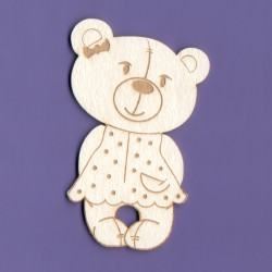 Chipboard -Teddy Bear/Girl
