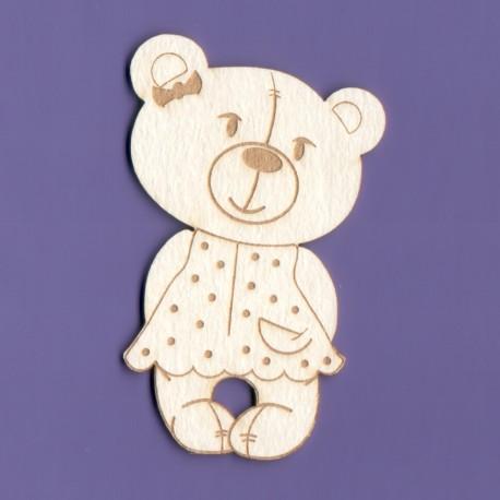 Chipboard -Teddy Bear/Girl