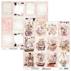 Scrapbooking Paper- 12x12 Sheet - DEAR DIARY 06