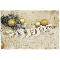 Chipboard- Long garland of Santa's socks