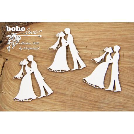 Chipboard-BOHO bridegroom /3pairs