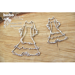 Chipboard-BOHO wedding dress /2pcs