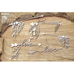 Chipboard-BOHO big arrows