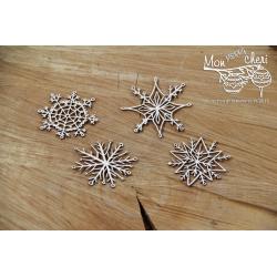 Chipboard - Mon MERRY cheri - snowflakes