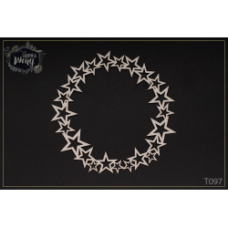 Chipboard - Round frame with empty stars