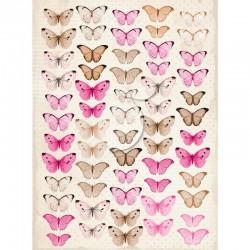 Scrapbooking Paper- Die Cut A4 Sheet   Butterflies 04